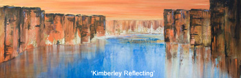 Kimberley Reflecting. Acrylic on canvas.